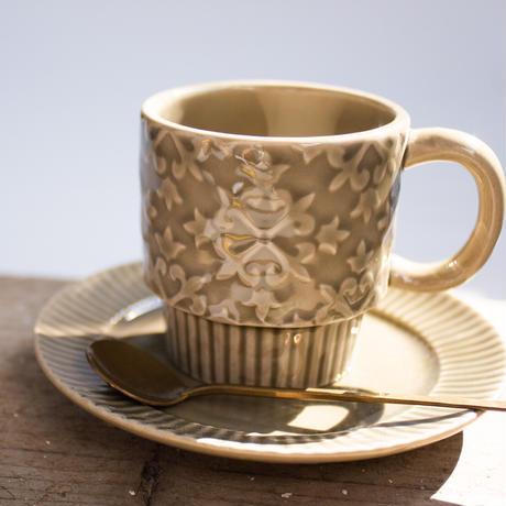 雪柄 レリーフ マグカップ 全3色
