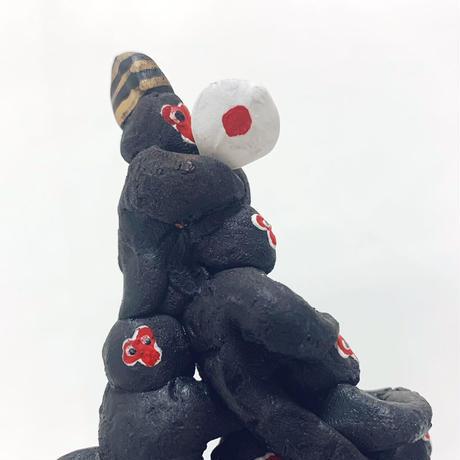 堺湊焼の『日和見猿 (千疋猿)』(51匹)