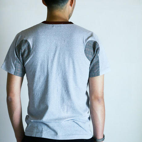Top Gray Coloring Changed Different Sleeve T-shirt.(Free  SIZE)