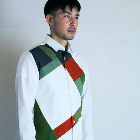 Mondrian Composition Patchwaork Shirt. (Men's SIZE:4)