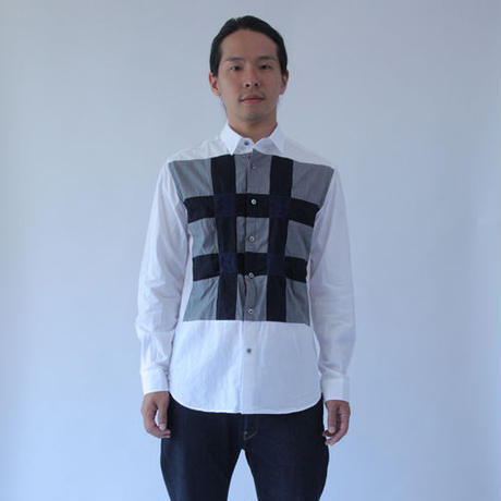 Tumbler Dries and Shrinks Patchwork Shirt. (Men's SIZE:4/SIZE:5)