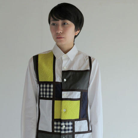 Mondrian Composition Patchwork Shirt. (Ladies' SIZE:1)