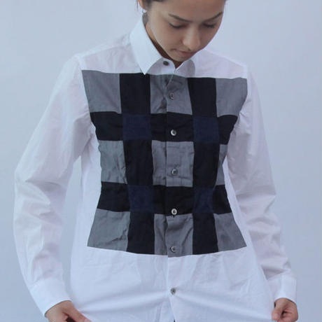 Tumbler Dries and Shrinks Patchwork Shirt.(Ladies' SIZE:1)