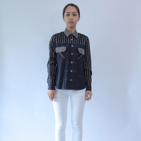 4 textiles Composition 507xx Type Shirt.(Ladies' SIZE:1)
