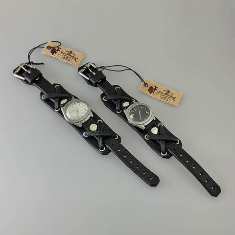 """Jetson(Silver / Black) """"X-strap 18mm Black"""""""
