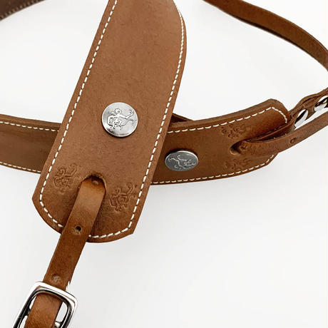 """""""SIMPLE"""" Cognac with White Stitch"""