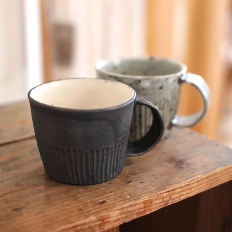 加藤祥孝 グレー粉引きマグカップ