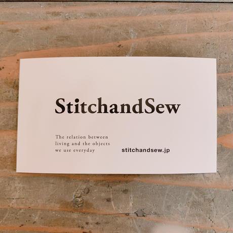 StitchandSew 型押し長財布 グレー
