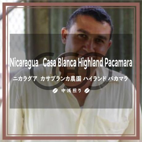 《送料¥200(メール便)》【ニカラグア】カサブランカ農園 ハイランド パカマラ(100g)中浅煎り