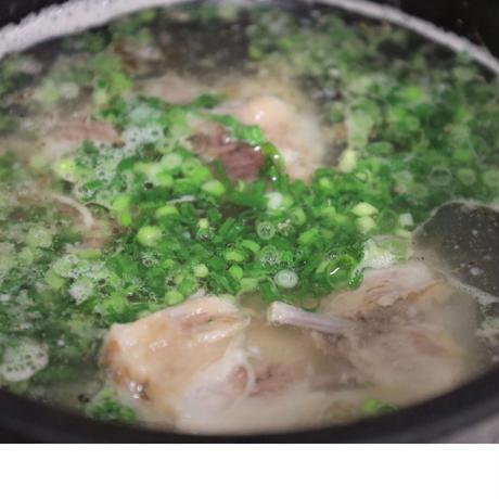 温めて味付けのみ! テールスープ1人前(アルミ鍋)
