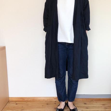 【予約販売】リネンのコート  ダークネイビー