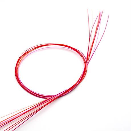 水引素材(絹巻、花水引)赤系 10本セット