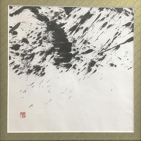 飛翔書作品展 初回:「天麗」(作品:295㎜×295㎜・額:縦440㎜×横440㎜×奥行20㎜)