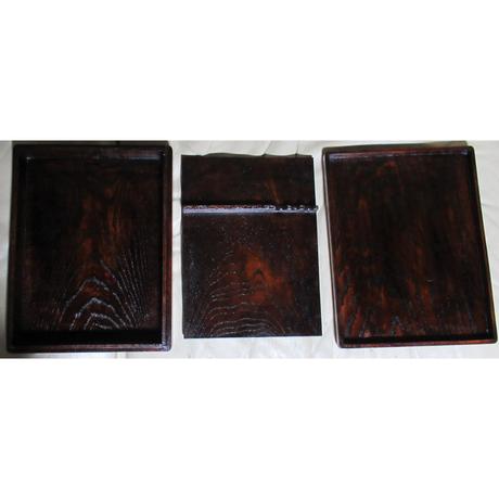 自宅で「いろは」:硯箱 伊吹山系霊山のケヤキを使用 サイズ:縦30×横23×高さ5.5㎝