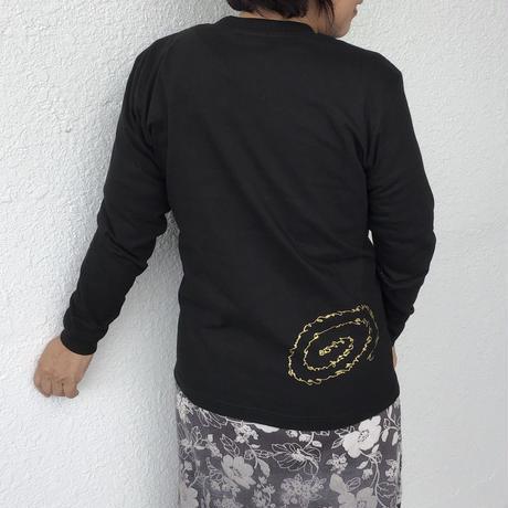 """Tシャツ """"いろは・ひふみ曼荼羅""""  女性用(長袖、Sサイズ(女性用Lサイズ相当))※11月5日 再入荷予定です"""