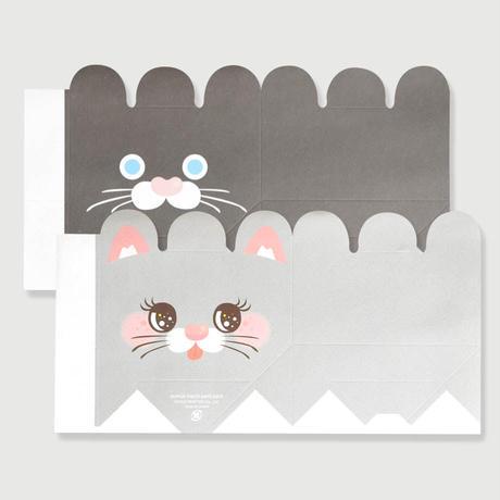 作ってアニマルマチプチパック(小・工作用)(黒猫・シルバー猫各3枚、送料込)