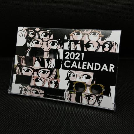 2021卓上カレンダー kozi69xめがねとけいはおくたき
