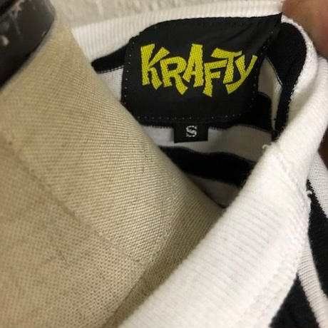 KRAFTY WORLD'S-T BLK-WHT/ORG