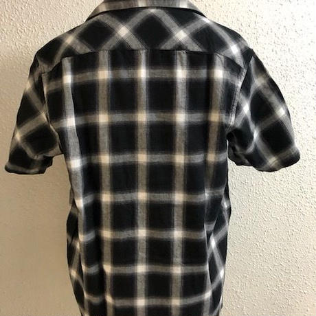BLUCO WORK SHIRTS S/S OMBRE CHECK BLK