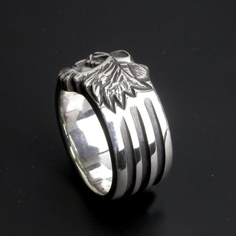 KraftyTiger 4Bar Silver Ring