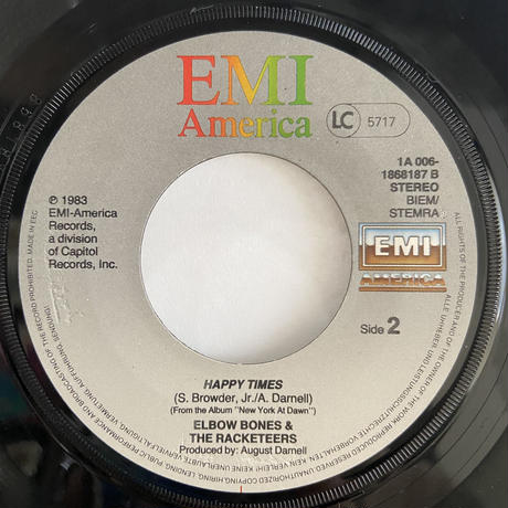 """Elbow Bones And The Racketeers / A Night In New York (7"""")"""