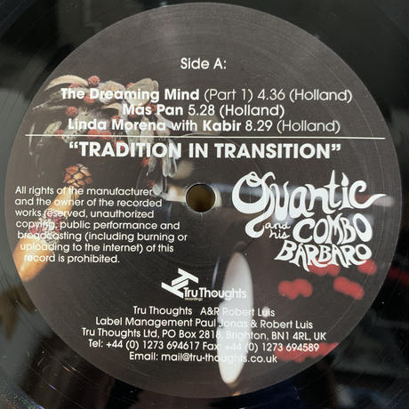 Quantic & His Combo Bárbaro / Tradition In Transition (LP)