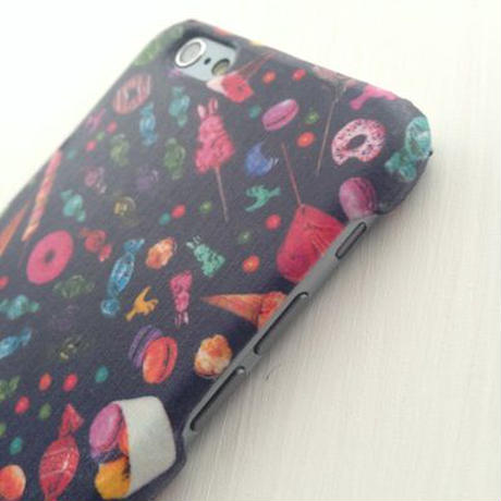 iPhone5/5S/5C/6/6Plus ケース   * キャンディポップ  ネイビー
