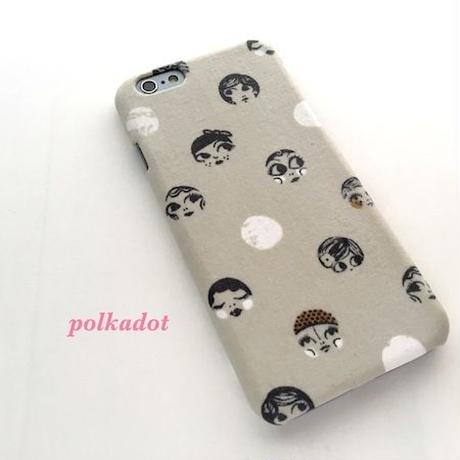 可愛いモダンガールの iPhoneケース