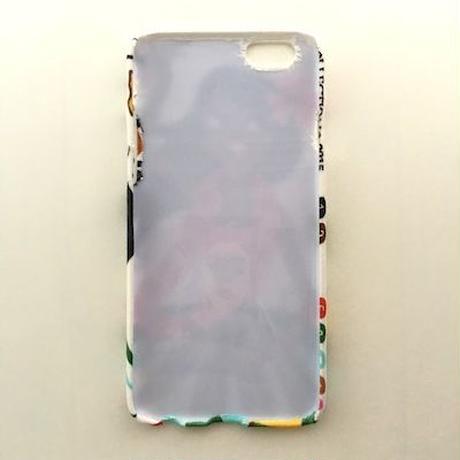 夏にピッタリ!可愛いアロハガールの iPhoneケース   <白>