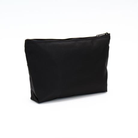 DOUBLE ZIP  POUCH(Mサイズ) BLACK