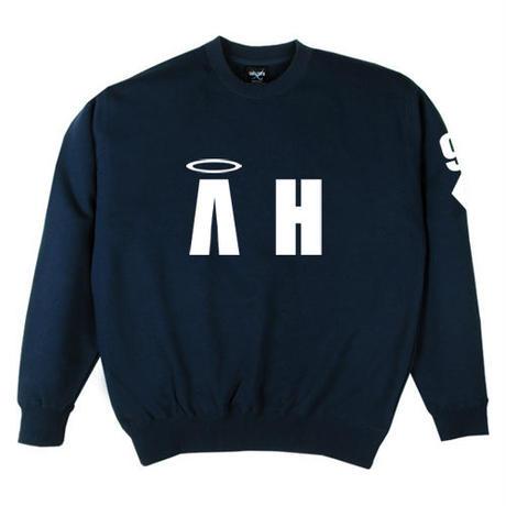 """A-HIGH"" CREWNECK SWEATSHIRT NAVY"