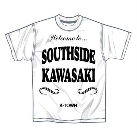 """【再入荷】""""SOUTHSIDE KAWASAKI"""" S/S TEE WHITE"""