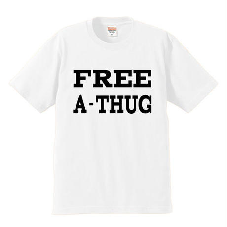 """FREE A-THUG"" S/S TEE WHITE"
