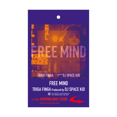 TRIGA FINGA / FREE MIND TEE with DL CARD