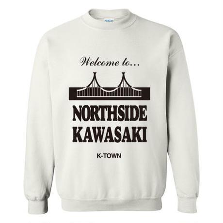 """NORTHSIDE KAWASAKI"" CREWNECK SWEATSHIRT WHITE"