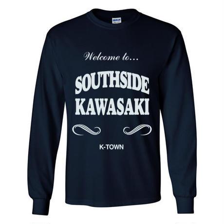 """SOUTHSIDE KAWASAKI"" L/S TEE NAVY"