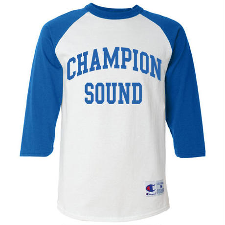 """CHAMPION SOUND"" RAGLAN BASEBALL TEE ROYAL BLUE"