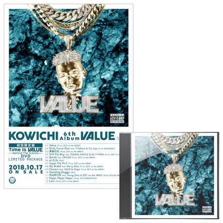 【特典・ポスター付き】KOWICHI - Value [初回限定盤]Time Is Value -Behind The Scenes- DVD LIMITED PACKAGE