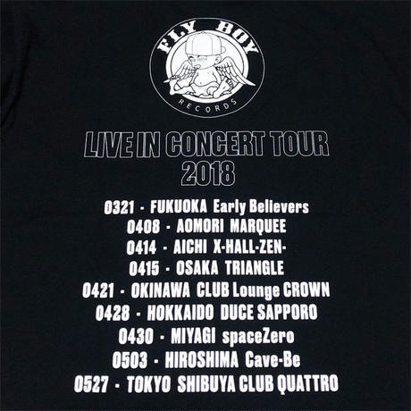 【特典付き】FLY BOY RECORDS LIVE IN CONCERT TOUR 2018 OFFICIAL T-SHIRTS
