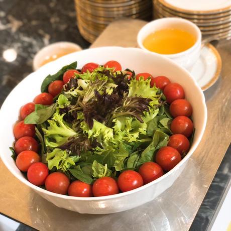 (定期便) 八ヶ岳(長野県) 産ミニトマト約1.8kgと絶品無農薬カットレタスのセット