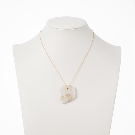 【buyer collection】K14レインボームーンストーン/ダイヤモンド ネックレス