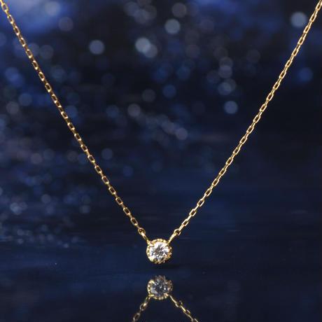 【anq.先行予約】 K18・0.05ct ダイヤモンド ネックレス「Stella」