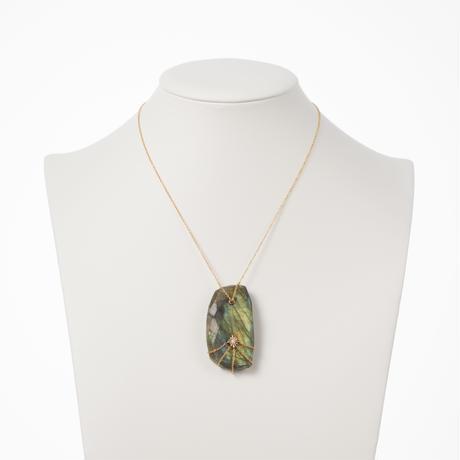 【buyer collection】K14ラブラドライト/ダイヤモンド ネックレス