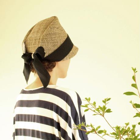麦わら帽子 レディース【ブラックリボン】