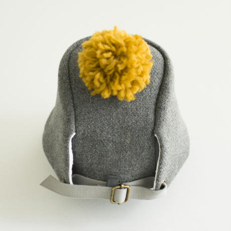 PomPom Wool cap こども用 Kids【 グレー Gray 】