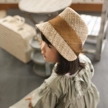 \ New /  麦わら帽子 キッズ|キャメル  48・52 サイズ