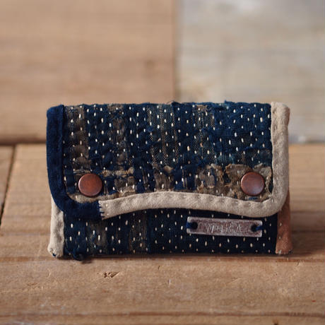 SASHIKO(BORO) CARD CASE (JAPAN×USA)  2019