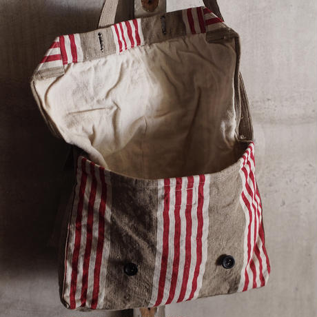 FRENCH VINTAGE  LINEN BAG ~type bread~針