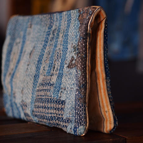 SASHIKO CLUTCH BAG(JAPAN×USA)