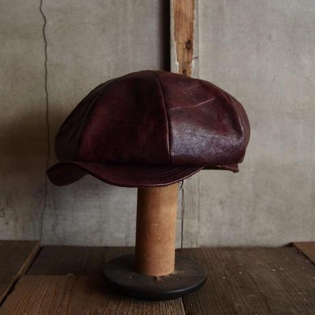 JAPAN VINTAGE LEATHER CAP ~type newsboy~58